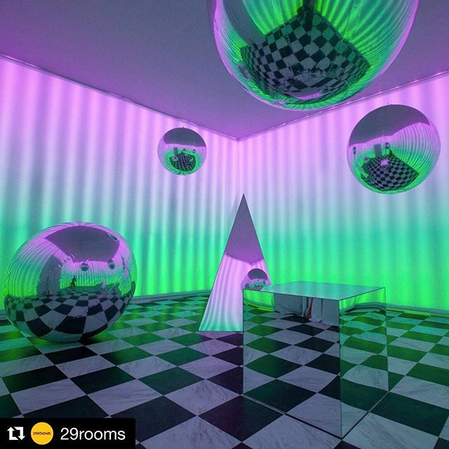 29 ROOMS NYC  #Repost @29rooms ・・・ 💫 A lil illusion never hurt anybody. Our Reality Rendered embodies this year's theme perfectly. It physically distorts perception and expands our concept of what's possible 💭. #29Rooms #ExpandYourReality 🎨: @magentafield 📸: @kaitwithcamera