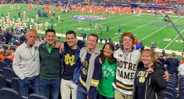 The author (far left) with 5 of his 6 children–including Anna the skeptic (far right) and wife Maureen. Not pictured, former Lumin intern and current University of Notre Dame sophomore, young Kevin O'Shea. #goirish