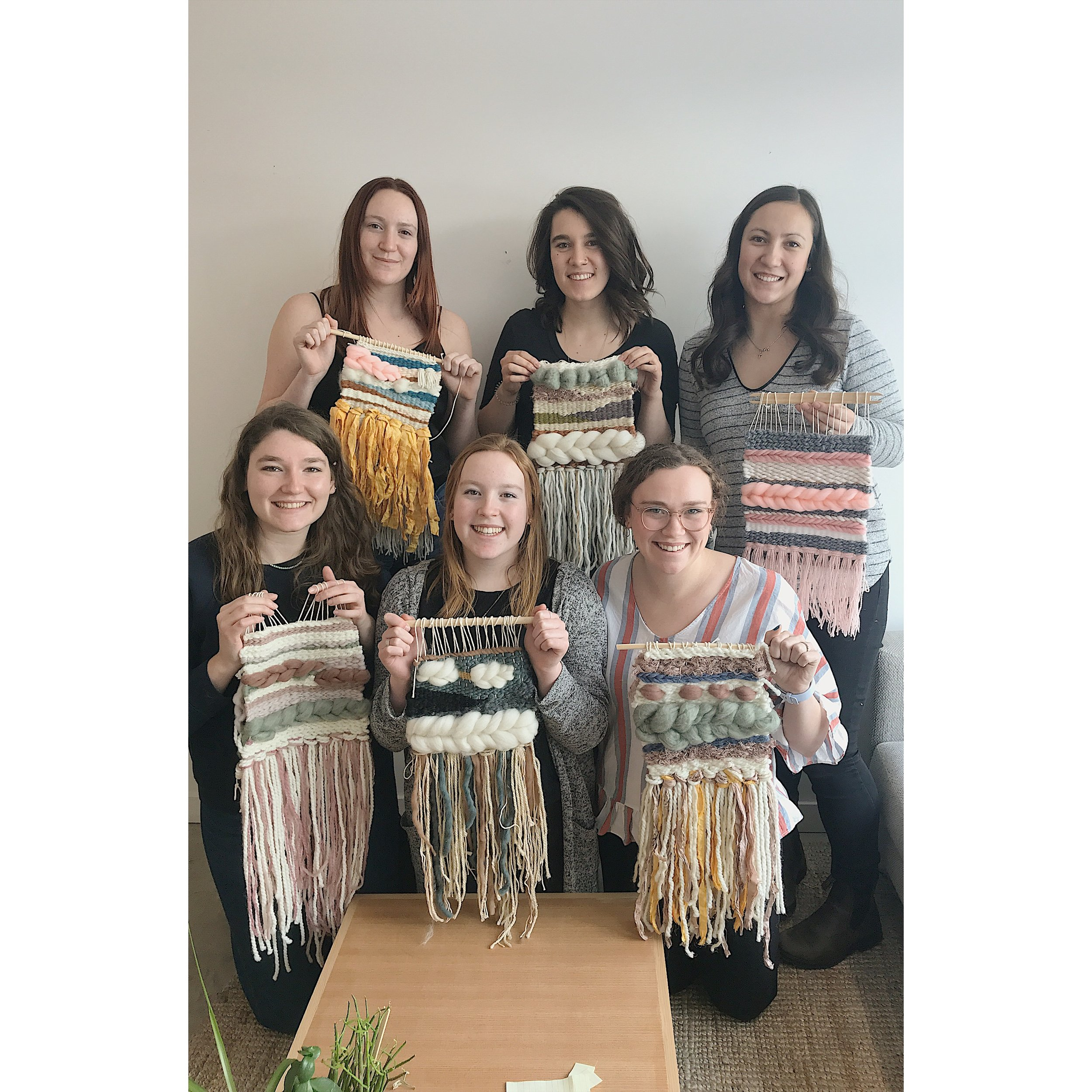 Weaving Workshop - Make a woven wall hanging or wool wreath. This is a shorter version of our public workshops with a slightly smaller final piece.Group of 6 (min.) ・ $75 p/pGroup of 9 ・ $60 p/pGroup of 12 (max.) ・$55 p/p