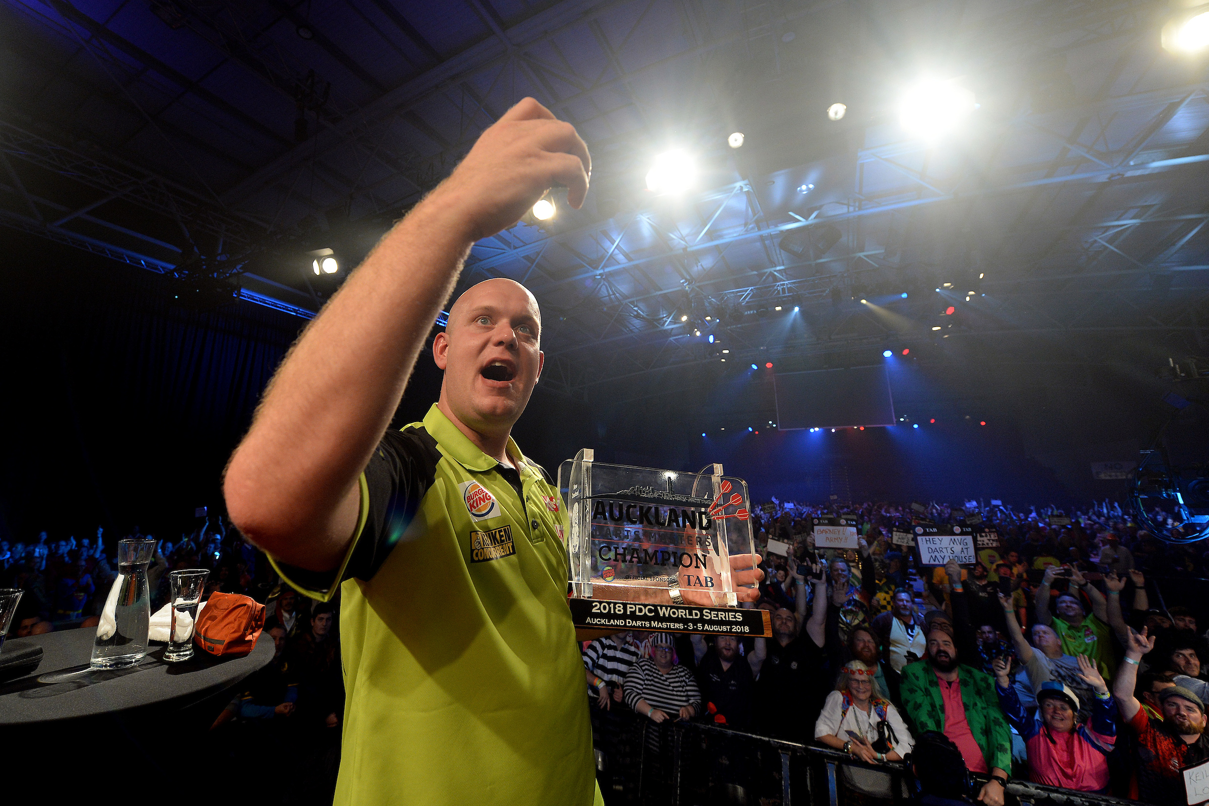 The 'Mighty' Michael van Gerwen, World Number One and reigning Auckland Champion. Photo: Photosport