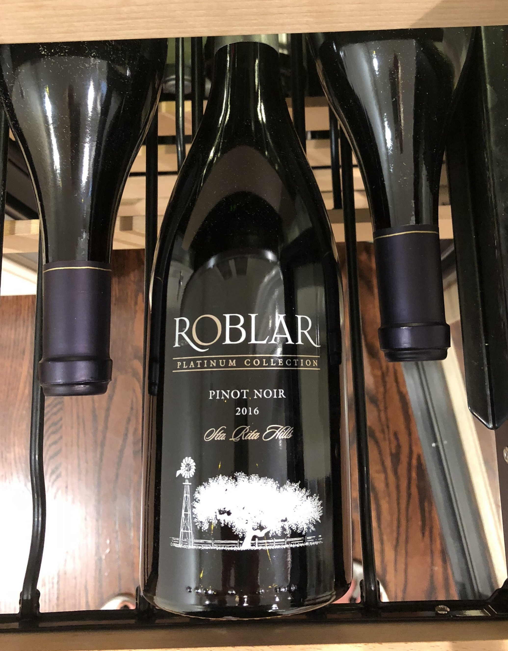 "Producers of great white and rose wine, Roblar shines in the Pinot Noir category. We chose this as a ""weekend evening"" wine."