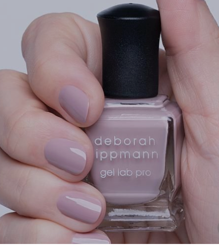 """Gel Lab Pro polish by Deborah Lippmann is my new go-to, long lasting nail polish. Shown here is my new favorite neutral """"I'm My Own Hero"""""""