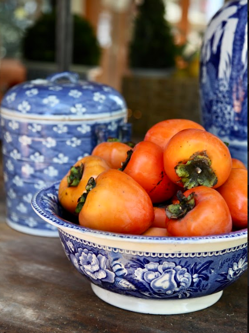 Persimmons can ripen while you are displaying them.