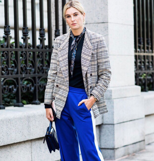 Tory Burch Takes the Lead with the track pant - @camtyox wearing @TorySport track pants and the Juliette mini satchel #ToryStories