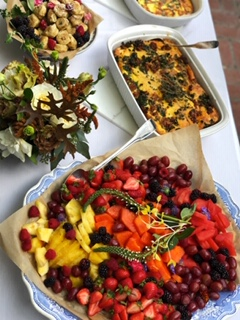 Saturday Brunch - A buffet makes it easy for guests to eat when they want and what they want.