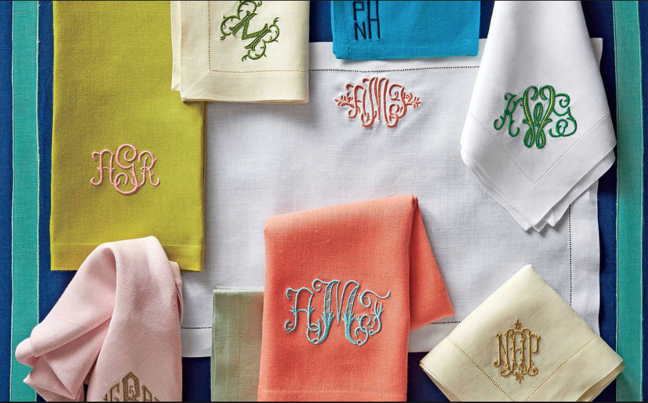 Linen napkins make a fine gift - One color is never enough. Mix and match to make it unique.