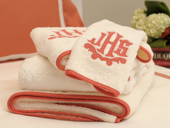 Bath towels with a fun applique also make a beautiful, yet practical gift.