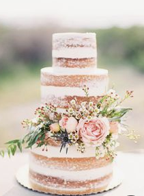 A naked cake has less frosting - Guests who need more sugar can hit the dessert table