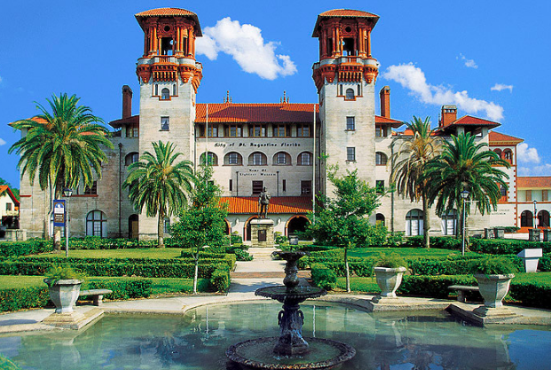 The Lightner Museum is at the center of town with adjoining plaza. Found a great antique store here.