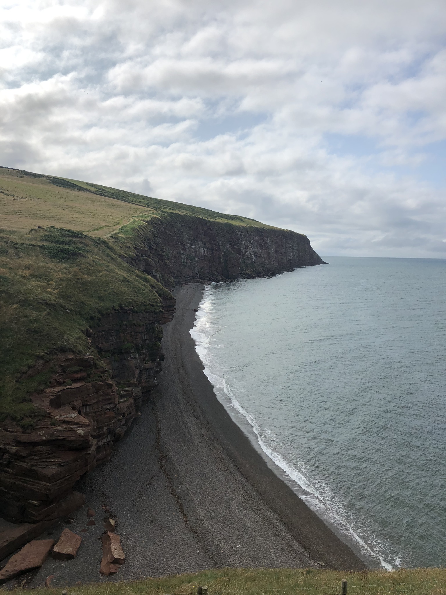 Sandstone cliffs along the Irish Sea guide you through the first leg of the walk before heading inland to the Lakes District National Park.