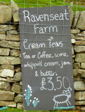 Cream tea hits the spot - Ravenseat Farm serves up family life along with tea and scones.