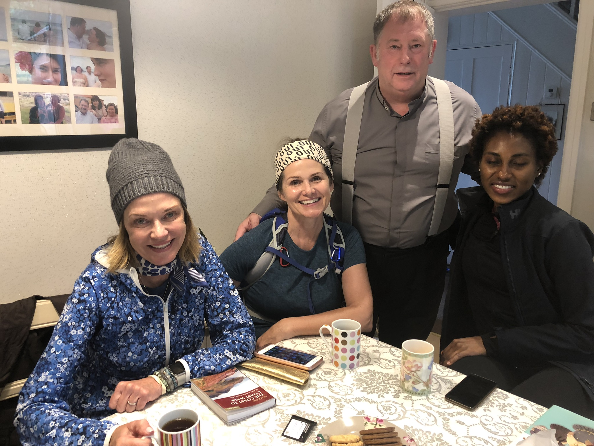Alan Coates and his lovely wife Penny served us tea and biscuits and helped three lost Americans get back on the path. You can't plan days like this.