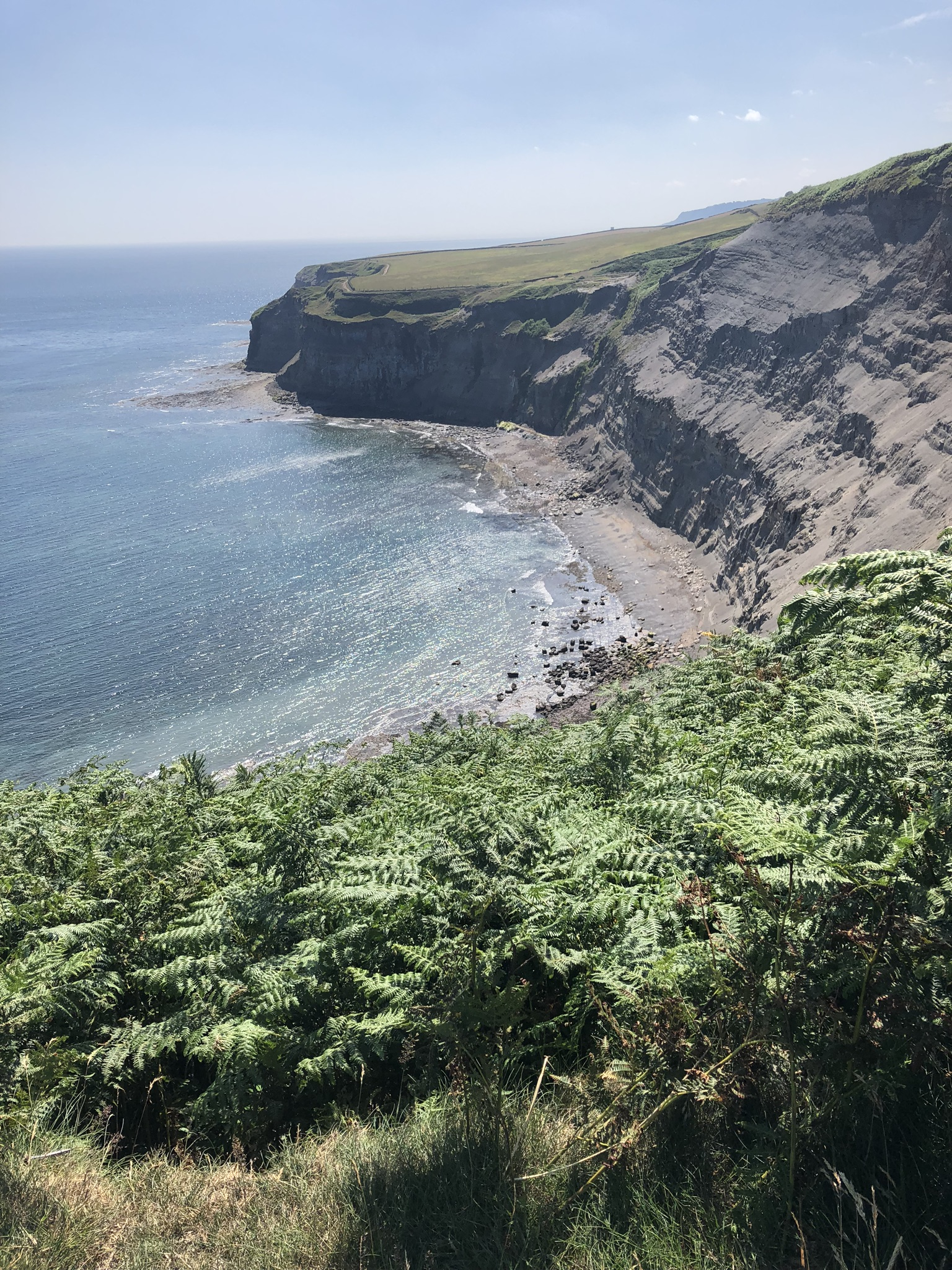 To see an ocean again was pure joy. This is the coastline of the North Sea approaching Robin's Hood Bay.