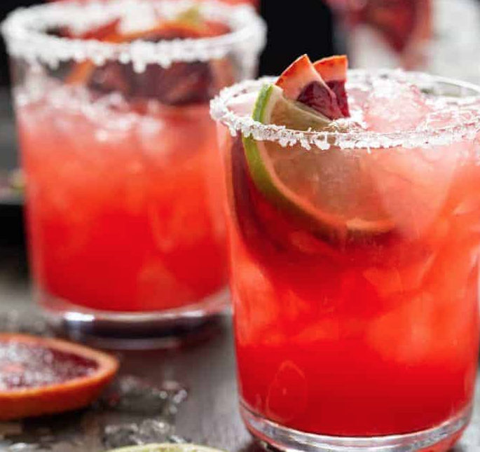 Blood Orange Margaritas - Try these yummy, citrusy margaritas that use a ton of lime and blood oranges