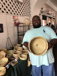 Handwoven Sweetgrass Baskets - If you bring one souvenir home from Charleston, choose a sweetgrass basket for its quality, heritage, and functionality. As a bonus, you are likely to meet Corey Alston, a 5th generation basket weaver.