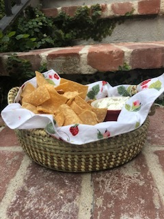 Chips and Dip - never looked better in a sweetgrass basket from Charleston.