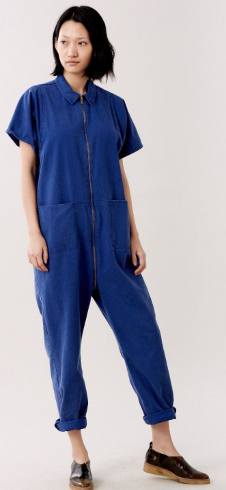 Straight lines and big pockets - Two features of Rachel Comey's mechanic jumpsuit that stand out.