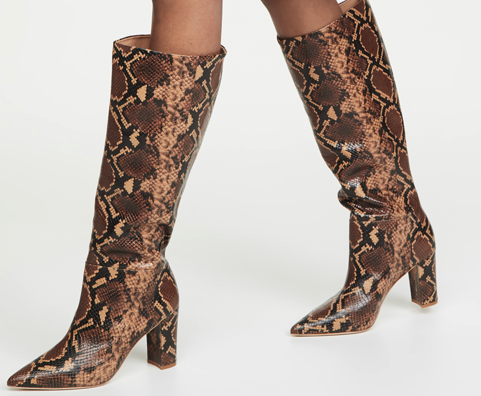 Ulla Johnson steps out in these amazing - Knee-High Python Boots