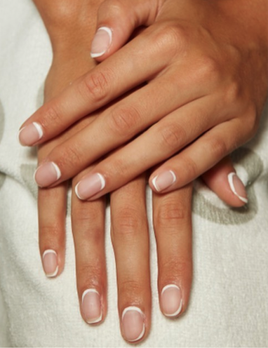 The new French manicure - Shows more of the natural nail.
