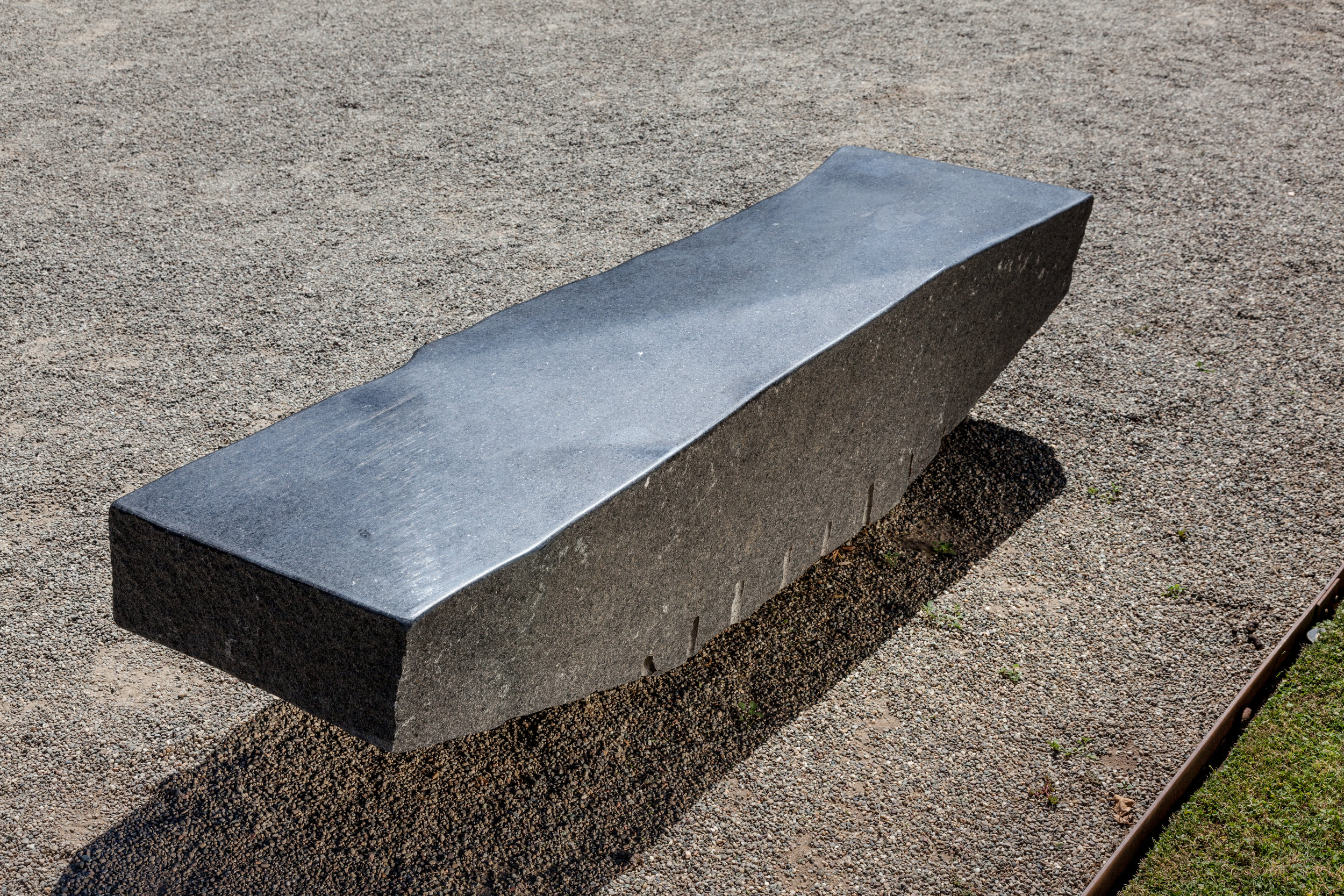 "Zigzag Bench  - Granite, 80"" x 18"" x 18"""