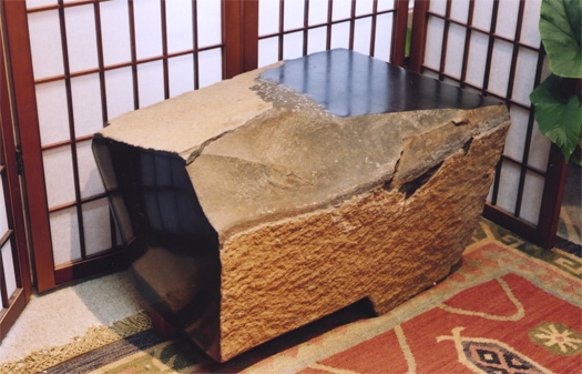 "Table  - Basalt, 24"" x 14"""