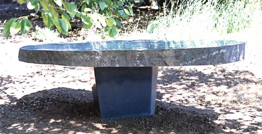 "Granite Table  - Basalt base, 110"" x 54"" x 31"""