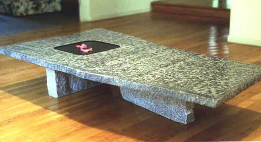 "Water Table  - Granite, 57"" x 32"" x 11"""