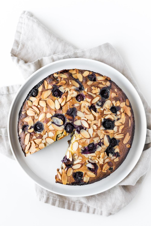 coconut almond blueberry cake