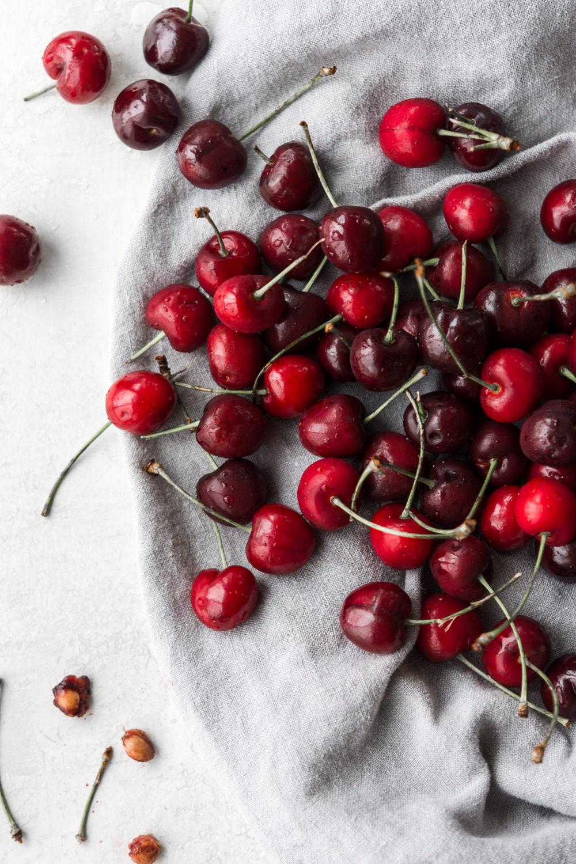 quick pickled cherries