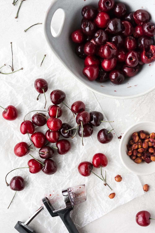 apple cider vinegar pickled cherries— withspice food blog