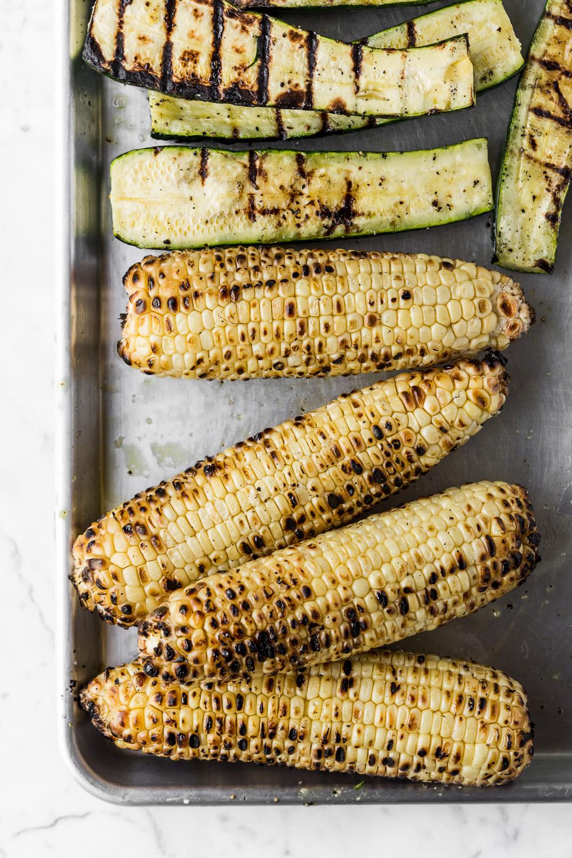 grilled summer corn and zucchini recipe