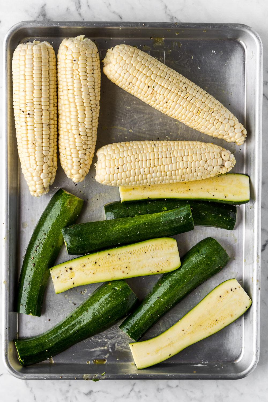 summer produce corn zucchini withspice seasonal food blog