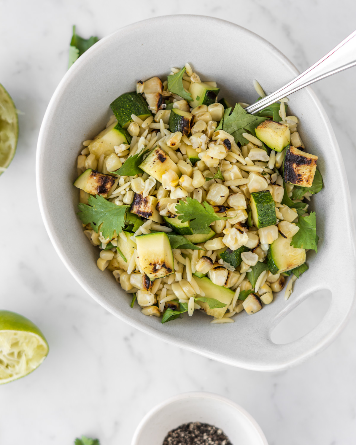 orzo salad with grilled corn, zucchini and lime with spice seasonal food blog.jpg