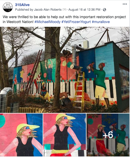 Michael Moody Mural Repair