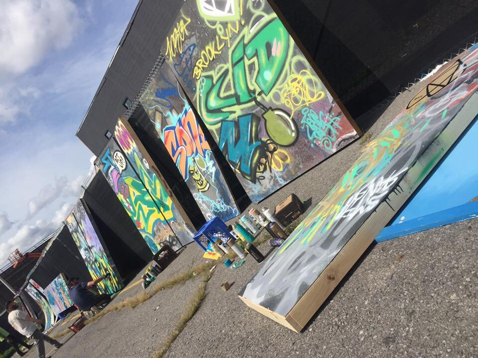 Local Street Artists Paint set of RENT @ The Redhouse Theater