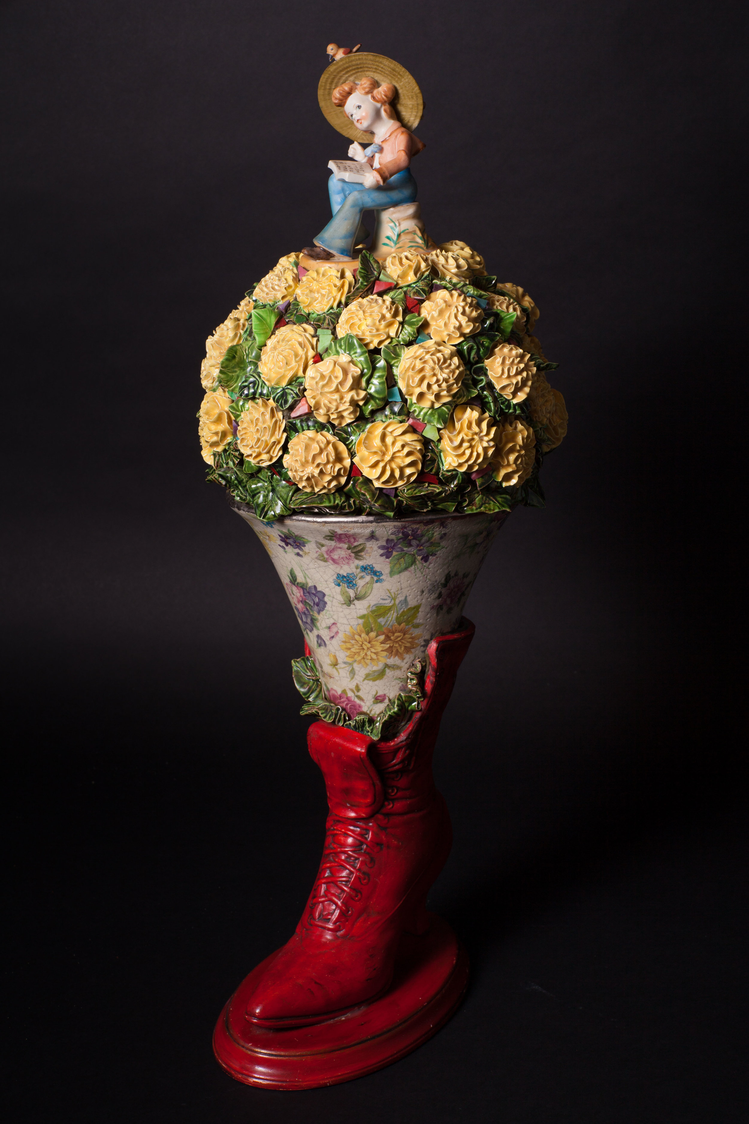 Red Boot Bouquet