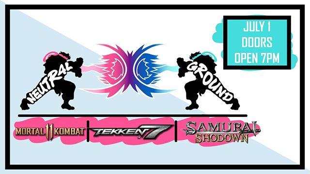 Its that time of the week again! Neutral Ground fighting game tournament coming to LFG Royal Oak. This Week Mortal Kombat 11, Tekken7, and the shiny new  Samurai Showdown! #RoyaloakMi #LFGRoyalOak #FerndaleMi https://smash.gg/tournament/neutral-ground-6