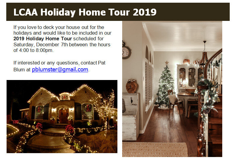 Would you like to be part of the Holiday Home Tour? Please contact Pat Blum at pblumster@gmail.com!
