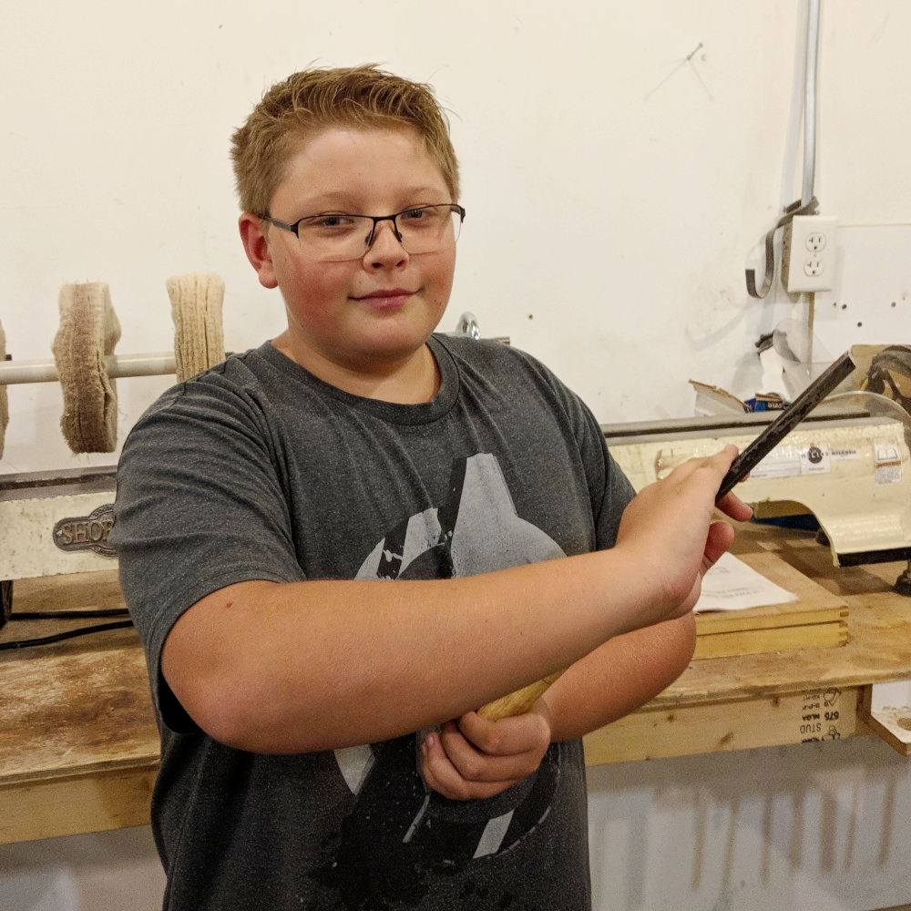 Trevor Klym   Lead Organizer, Jr. Helios  Trevor is a 14yr old woodworker who has made close to 70 pens and other woodcraft projects. Passing along his acquired knowledge to his peers is what drove him to found Jr Helios. He is excited about teaching woodworking to the next generation!
