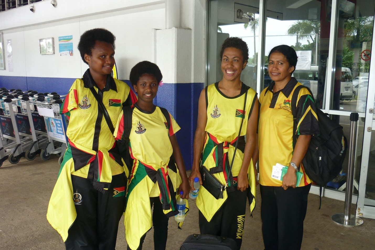 Vanuatu Parathletes in Commonwealth Games Training Camp - With the Commonwealth Games in Australia only a few months away, Vanuatu's Parathletics Team has departed for a pre-Games training camp in Brisbane. Dephnny Naliupis, Marceline Moli and Friana Kweivera are accompanied by Chef d'Equip Dorian Naliupis for the three day intensive technical training to improve their skills and fitness...