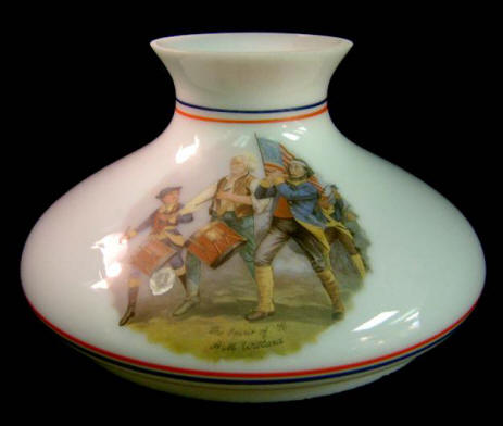 "#SS091 (View of both sides of shade) 10"" Hand Decorated Tam-o-Shanter $90.00"