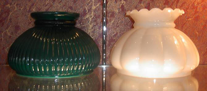 "7"" Painted Green Rib - $65.00 7"" Opal Melon Crimp Top - $48.00"
