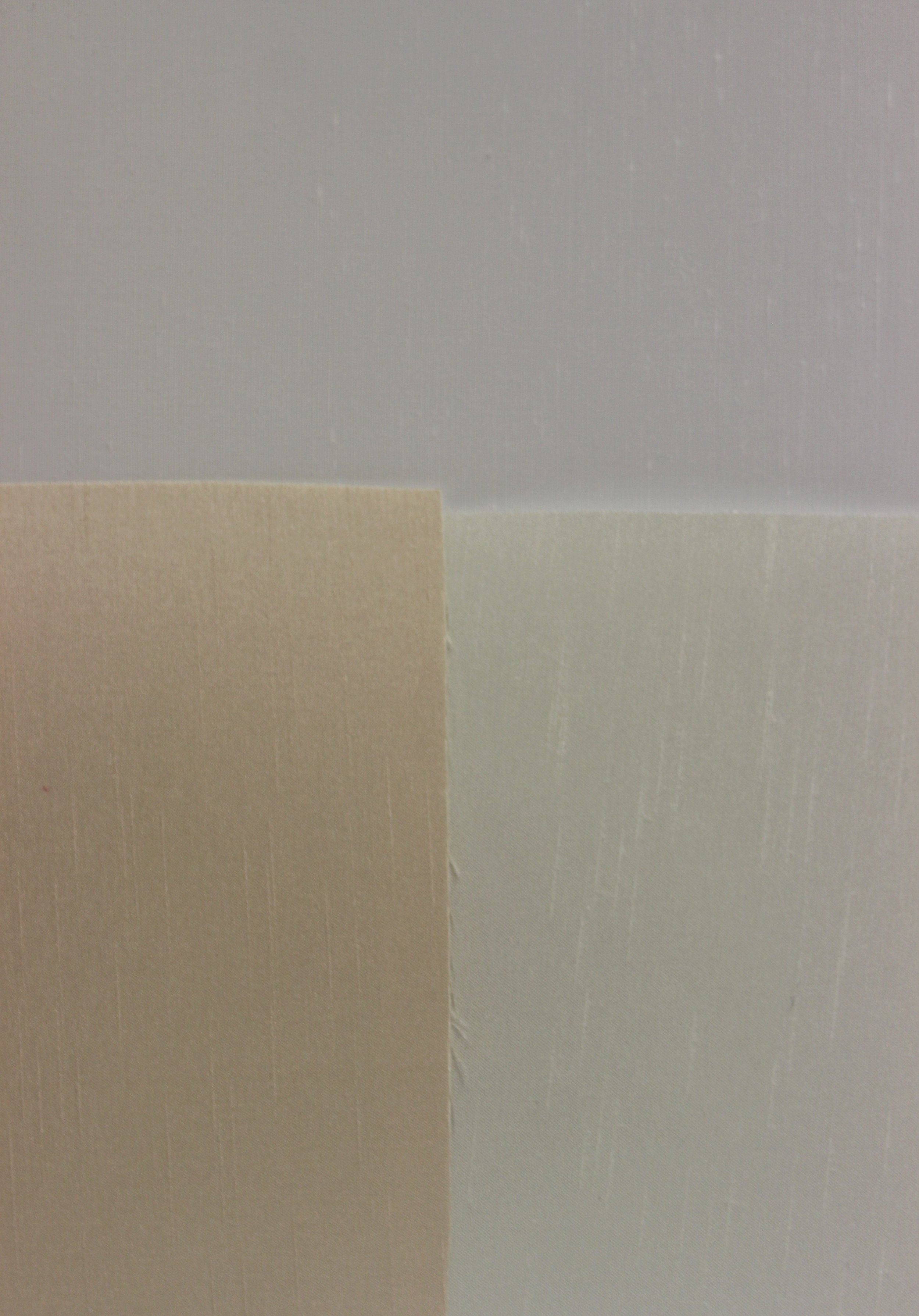 #101` White (top) #101 Eggshell (bottom right) & #101 Bamboo (bottom left) - Side by Side Comparison
