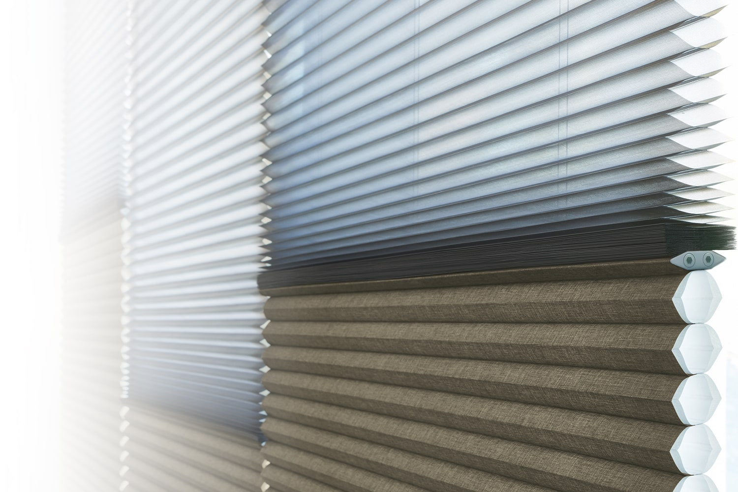 Duette Shades From Hunter Douglas Come In Multiple Cell Sizes.  Additionally, They Offer A Horizontal Or Vertiglide™ Vertical Orientation  Solution (perfect ...