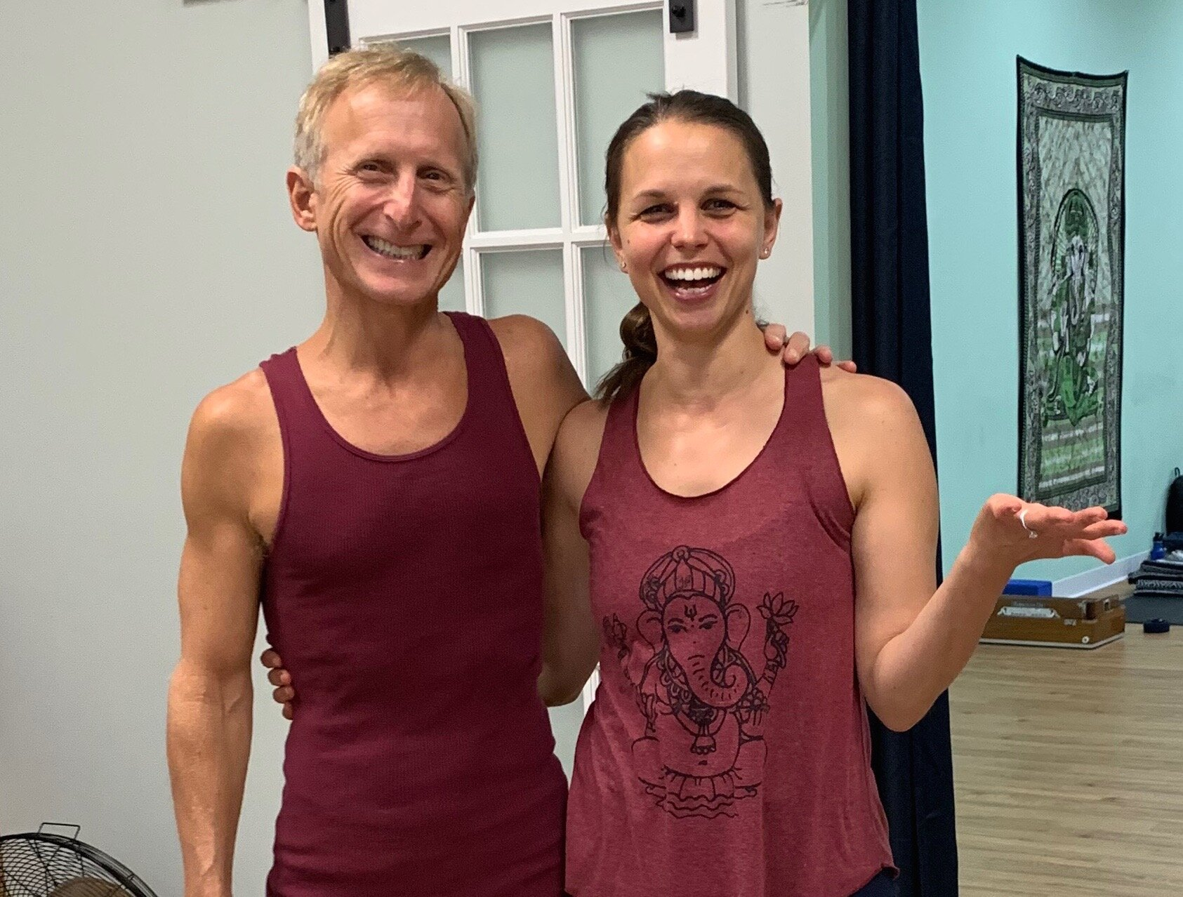 Accidentally Twinning with Todd during the weekend workshop in Richmond last weekend.