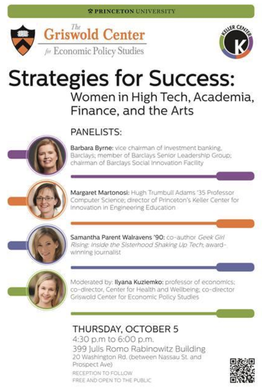Strategies for Success - Panel happening this Thursday at the Julis Romo Rabinowitz building!