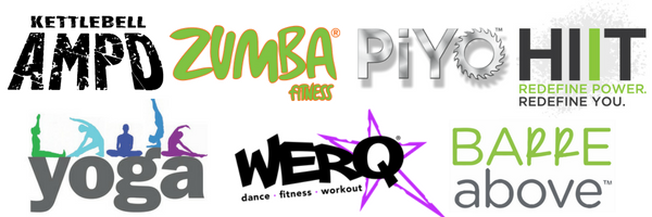 Group Fitness Classes including: Kettlebell, Zumba, PiYo, HIIT, Yoga, WERQ, Barre Above, and Stretch and Tone at MFA Studios in Locust Grove, VA.