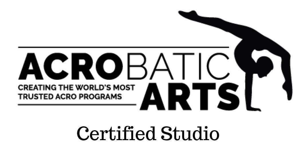 MFA Studios is an Acrobatic Arts Certified Studio.