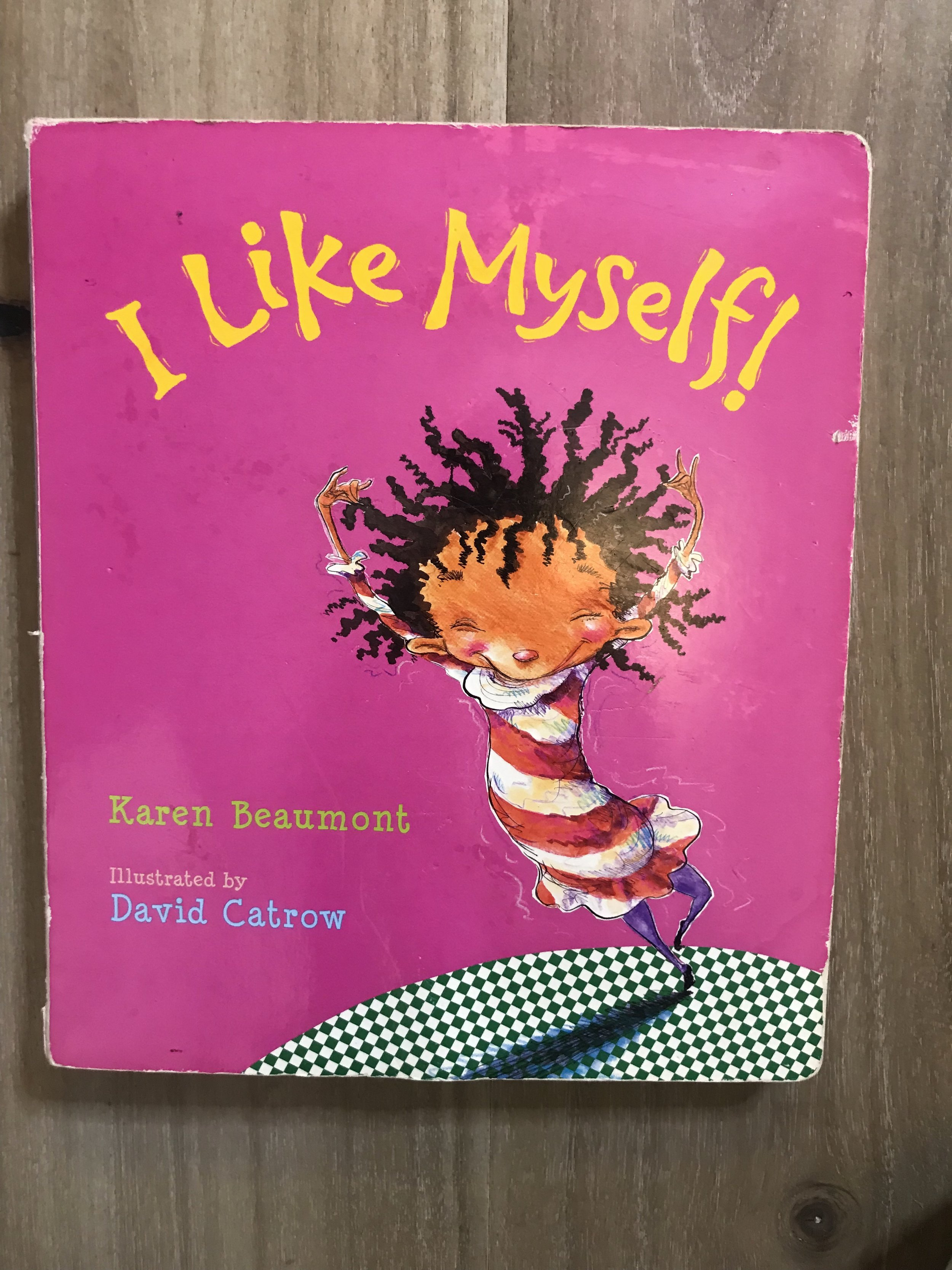I purchased this book for Elle when she was about 2yes old and having issues about her curly hair. This book teaches kids to love themselves no matter their appearance or flaws!