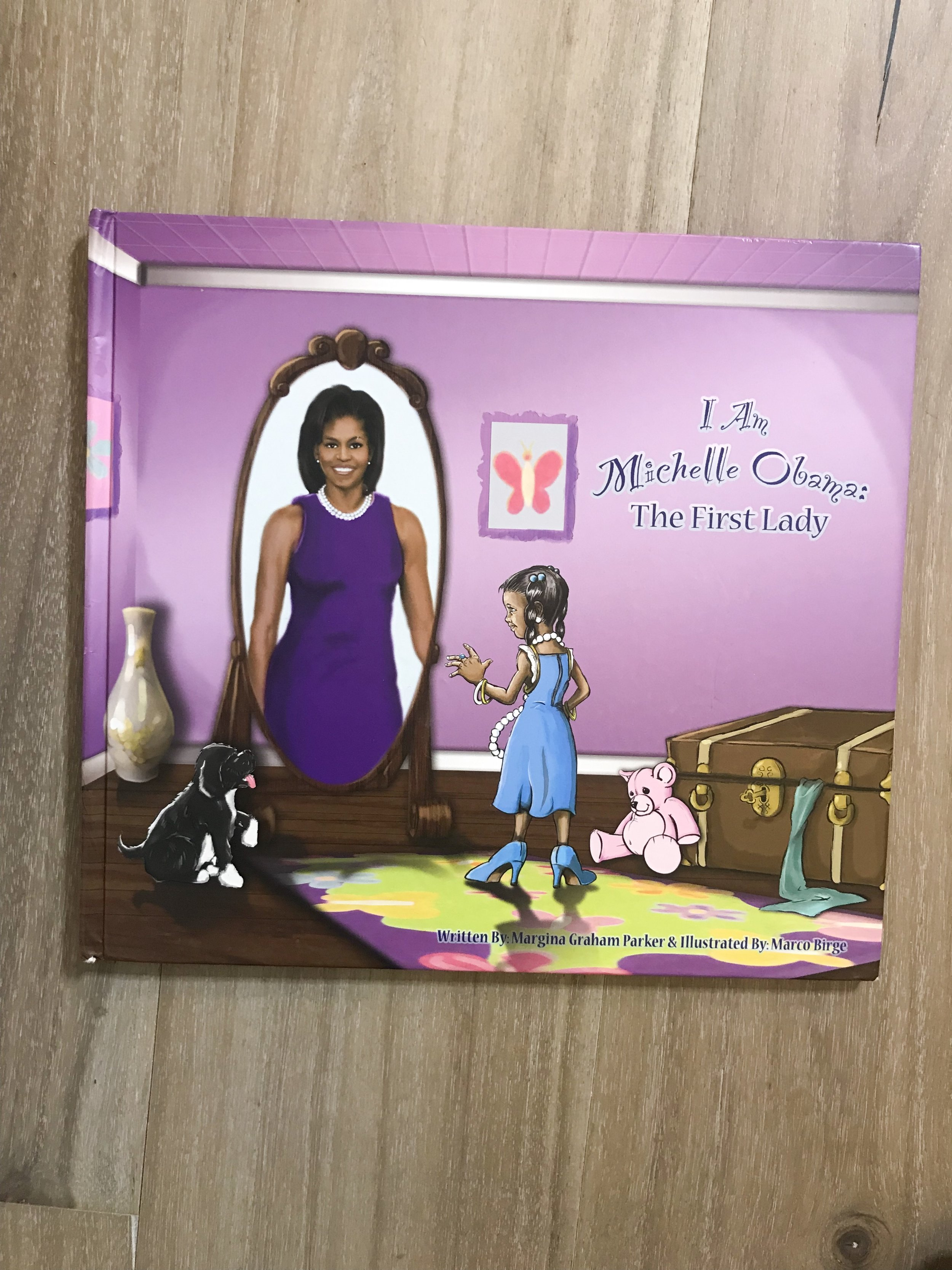 We purchased this book for Elle at an African American festival. Elle was about a year old and I swore it would be a keepsake since we had finally had our first Black President! But I'm a mom first and when Elle got older and more aware of current day events she just had to read this story.